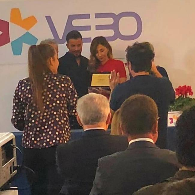 Simonetta Tiriduzzi ritira il premio...
